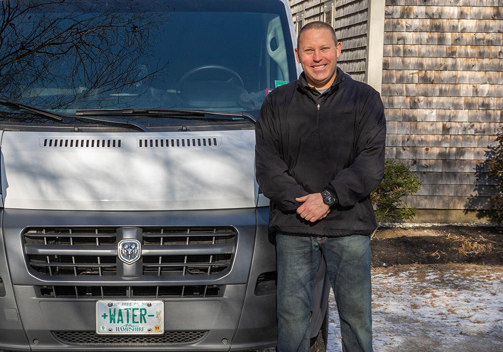 Servicing NH, ME and MA - Water Treatment and Hard Water Softening Service - Jeff & Truck